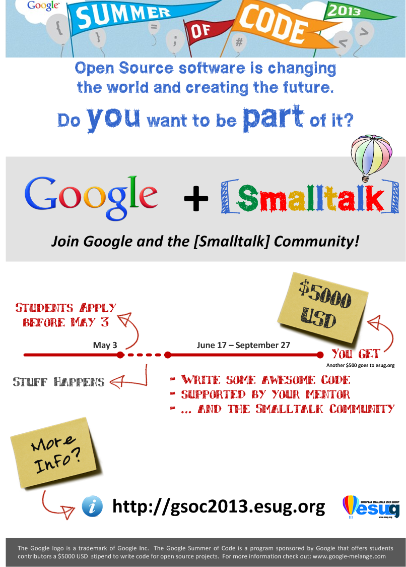 Smalltalk GSoC poster - English