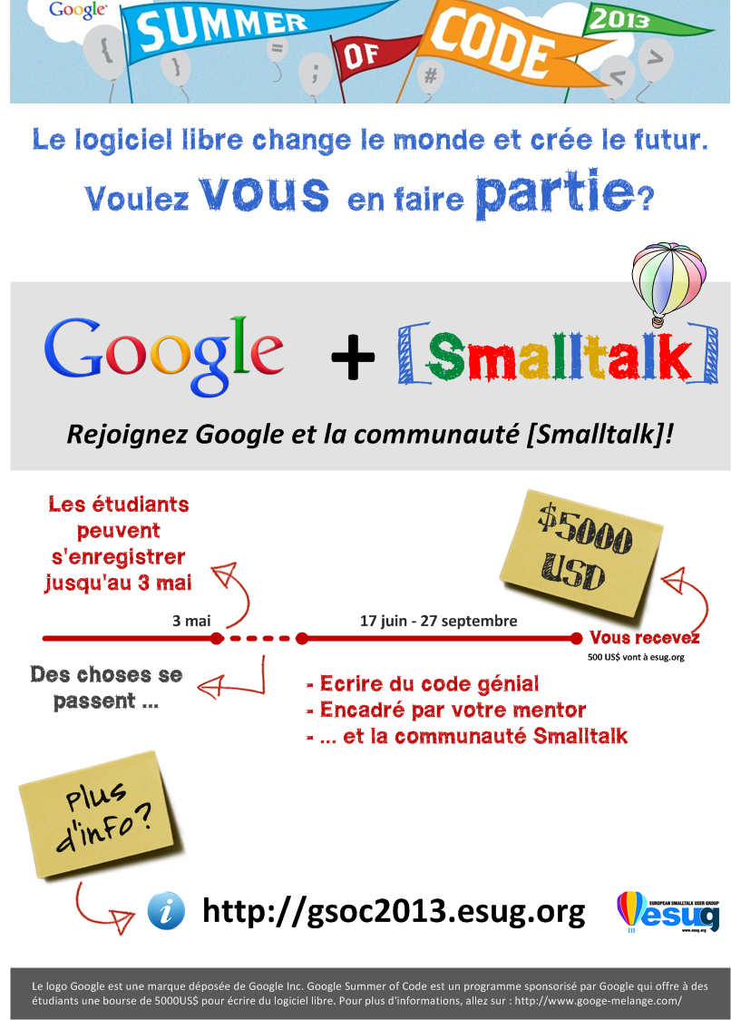 Smalltalk GSoC poster - French