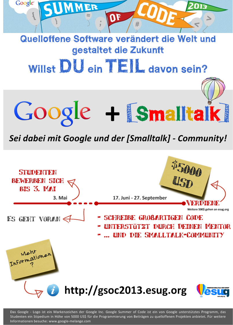 Smalltalk GSoC poster - German