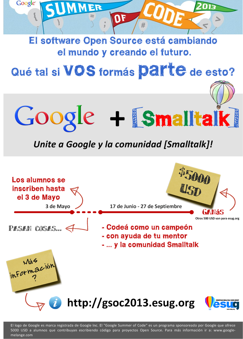 Smalltalk GSoC poster - Spanish